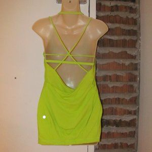 Lululemon Flow And Go Tank Top Lime Green Size 6